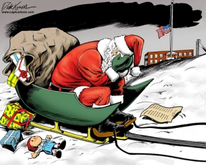 Sandy Hook Elementary school shooting - Santa is weeping